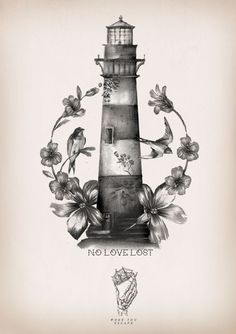 40 Incredible Lighthouse Tattoo Designs