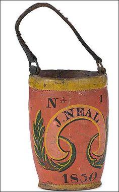 NEW ENGLAND FIREBUCKET, American, ca 1830.