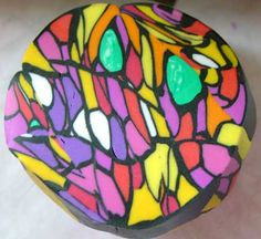 Fimoanleitung bunte Facetten Mosaik Cane  Stained Glass Cane tutorial  ~ by Fimotic.com