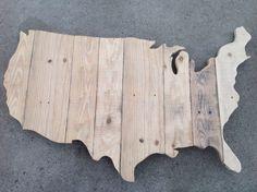 USA Recycled Pallet Wood Sign by GodspeedArt on Etsy, $75.00