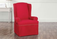 Sure Fit Slipcovers Monaco Wing Chair Slipcovers Clearance - wing chair