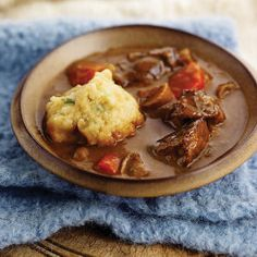 Beef-Ale Stew and Green Onion-Buttermilk Dumplings