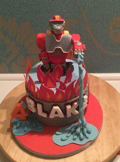 Rescue bot heatwave cake