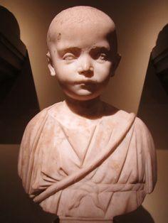Roman child- Cleveland Museum of Art Roman Sculpture, Pottery Sculpture, Sculpture Art, Roman History, Art History, Art Through The Ages, Empire Romain, Cleveland Museum Of Art, Roman Art