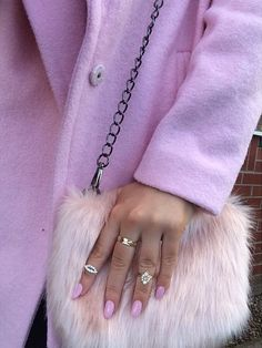 Danielle with the Nasty Gal x @nilaanthony Ever After Bag #fauxfur #furry #pastel ❤