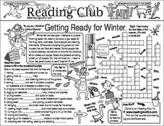 HOW ARE PEOPLE GETTING READY FOR WINTER? Includes:   • Getting Ready For Winter Two-Page Activity Set   • Winter Wonderland (Activities, Penguins, and Festivals) Two-Page Activity Set  • Winter Rhyming Words Crossword Puzzle  • Winter Reading Log & Certificate