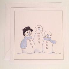 Kort: De tre snømenn Peanuts Comics