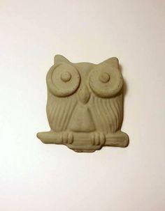 Owl Garden Art Concrete Owl Garden Owl by DeerwoodCreekGifts