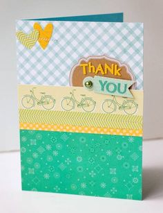 Thank You Card {Studio Calico April Kit} by SusanWeinroth - Cards and Paper Crafts at Splitcoaststampers