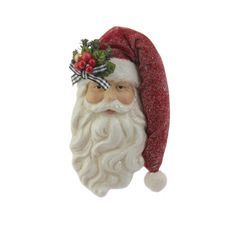 "The Jolly Christmas Shop - Raz 7.5"" Santa Face Christmas Ornament 3640506, $12.99 (https://www.thejollychristmasshop.com/raz-7-5-santa-face-christmas-ornament-3640506/)"