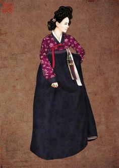 Hanbok illust 한복 일러스트, jisuyeon