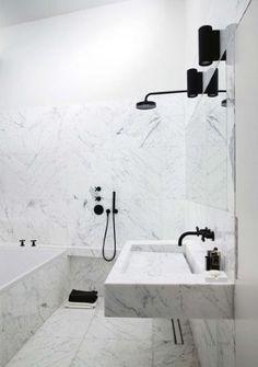 21 Black White and Grey Bathroom Ideas |  designlibrary.com.au  - Cotemaison.fr - Paris apartment
