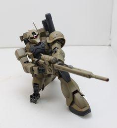 HG Zaku 1 Sniper. Modeller: Wolfen