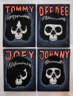 The Ramones. #musicart #posterart http://www.pinterest.com/TheHitman14/music-poster-art-%2B/