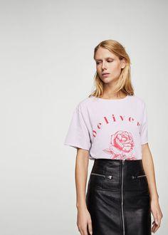 Delivery t-shirt - Women   MANGO USA
