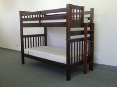 Tall Twin over Twin Mission Bunk Bed - Cappuccino delivered for only $389 from www.bunkbedking.com, $389