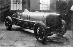 The 350hp 12 cylinder Sunbeam at the Wolverhampton works in 1920