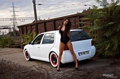 This page is for fans of Volkswagen Golf IV Volkswagen Group, Volkswagen Polo, Sexy Cars, Hot Cars, Vw Mk4, Vw Golf Mk4, Bus Girl, Car Girls, Girls 4