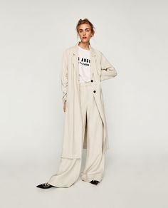 TRENCH COAT WITH GATHERED SLEEVES-OUTERWEAR-WOMAN | ZARA United States