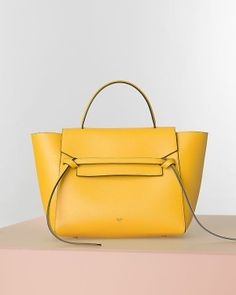 12502c89ca1d Celine Yellow Belt Tote Bag - Fall Winter 2014 Fashion Bags