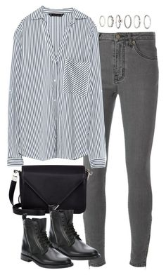 """Untitled #4737"" by eleanorsclosettt ❤ liked on Polyvore featuring Yves Saint Laurent, Zara, Alexander Wang and Forever 21"