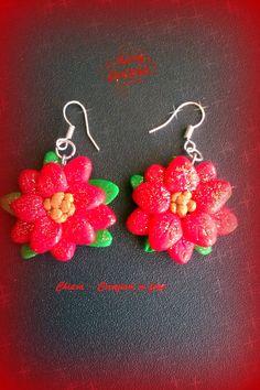 orecchini stelle di natale #fimo #handmade #natale2014