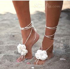New Arrival White Silk  Flowers Beach Wedding Shoes