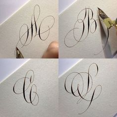 This Pin was discovered by Lettering Daily Calligraphy Fonts Alphabet, Copperplate Calligraphy, Calligraphy Drawing, Calligraphy Practice, Penmanship, Cursive, Hand Lettering Art, Creative Lettering, Graffiti Lettering