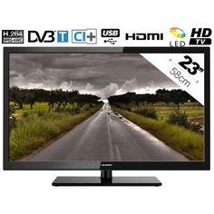 BLA23/157 - Téléviseur LED - 16/9 - 23'' - 58cm  - HDTV - HDMI - TNT HD - CI  - USB Multimédia : en vente sur RueDuCommerce