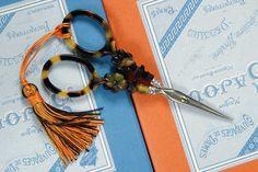 tortoise shell embroidery scissors.
