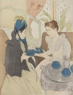 Afternoon Tea Party by Mary Cassatt from National Gallery of Art Washington DC