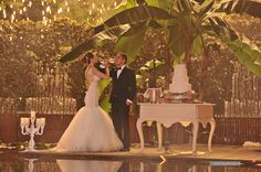 """Bridal Reflections Real Bride Márcia!  Wedding Gown: Galia Lahav Haute Couture """"Suzanne"""" Custom design with  a detachable full tulle skirt.  http://www.bridalreflections.com/bridal-dress-designers/galia-lahav Accessories: Boutique De Voile http://www.bridalreflections.com/bridal-veils-accents Mother of the Bride Dress: Jovani  http://www.bridalreflections.com/evening-wear"""