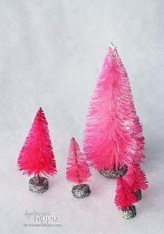 hot pink bottle brush trees