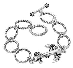 Girlfriend gift anchor charm bracelet - for the woman who is your ANCHOR :)