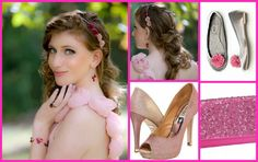 Nothing Says All Girl more than Shades of Pink and Soft Flowers. www.ModelBride.com