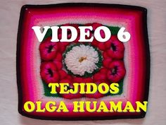 "colcha a crochet : video 6, muestra ""pensamiento"" - YouTube"