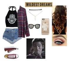 """Dating Liam Dunbar from Teen Wolf"" by http-kylie ❤ liked on Polyvore featuring Boohoo, Madewell, Converse, Wet Seal, Casetify and Karen Walker"