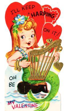 Vintage Mermaid Valentine