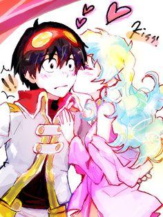 Simon and nia Nia Gurren Lagann, Gurren Laggan, Clannad, I Love Anime, Cute Anime Character, Anime Ships, Romantic Couples, Anime Comics, Love Art