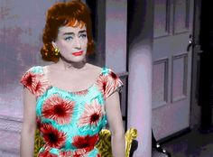 """Movie Star Joan Crawford is Pouty and Anxious in """"Strait Jacket"""""""