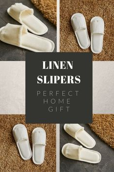 Bath Slippers Spa Slippers Natural Slippers Vegan Slippers Home Slippers Linen Slippers Linen Home Shoes Home Shoes Terry Slippers