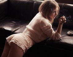 Lace Trim Pajama Shorts