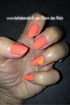 #nailart c'est l'été ! #nail #nails #manicure #fimo #kiko #sephora #orange #naildesign - Belle des nails by Claire des nails