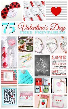 75 Best Valentine's Day Free Printables #Valentines #Printables