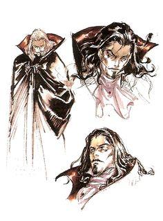 Dracula Sketches - Ayami Kojima (Castlevania: Symphony of the Night)