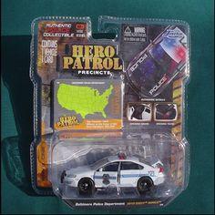 JADA 1:64 Hero Patrol Precints: Baltimore Police, 2010 Chevy Impala, NEW!