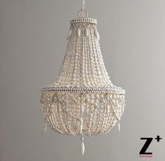 Replica item America style Anselme large chandelier weathered white Wood bead LIGHTs  free shipping