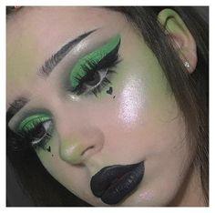 Emo Makeup, Grunge Makeup, Eye Makeup Art, Eyeshadow Makeup, Green Eyeshadow, Edgy Eye Makeup, Movie Makeup, Daily Makeup, Everyday Makeup