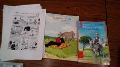 Materiales trabajados, por parte de las tutorías, en la Biblioteca Escolar. CEIP Cristóbal de Arce, La Peza