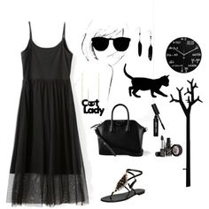 """Cat Lady"" by yoyomelody on Polyvore"